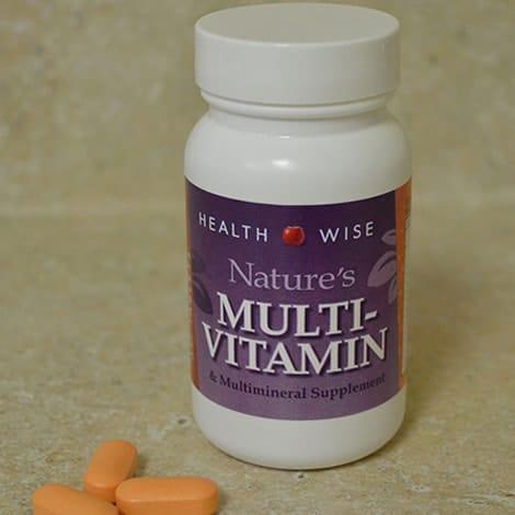 Image of Nature's Basic Multi-vitamin Supplement bottle